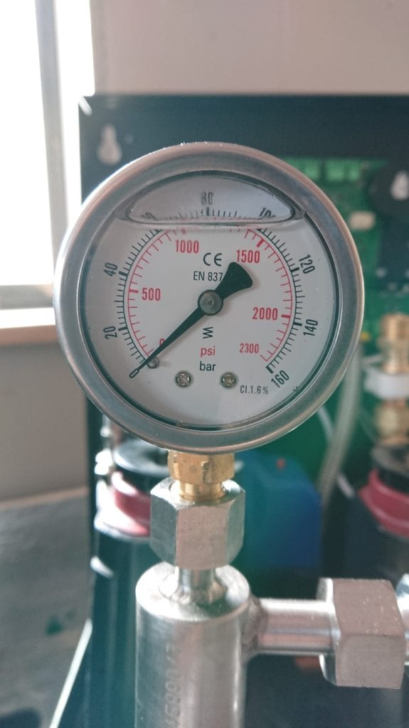 water mist system - the pressure dial